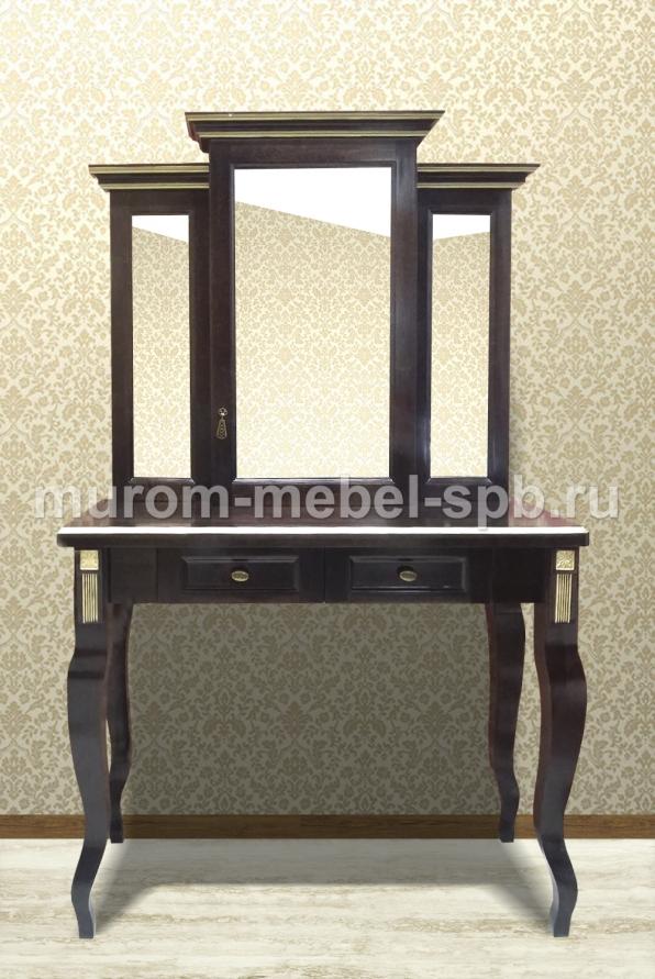 Фото Дамский столик Грета (сосна, резьба береза)