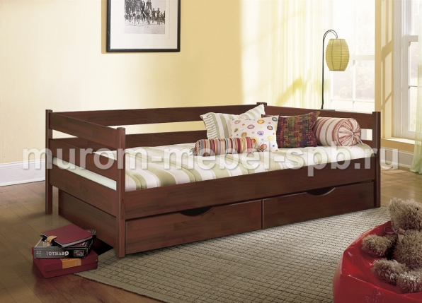 Фото Кровать Детская с ящиками 1
