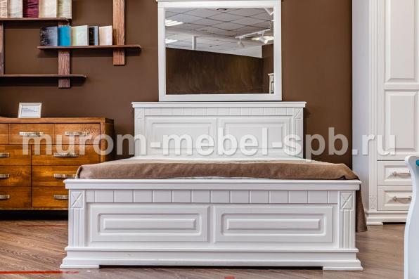Фото Кровать Флоренция (белая эмаль)