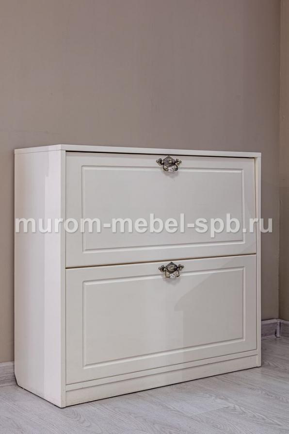 Фото Обувница Фея (белая эмаль)
