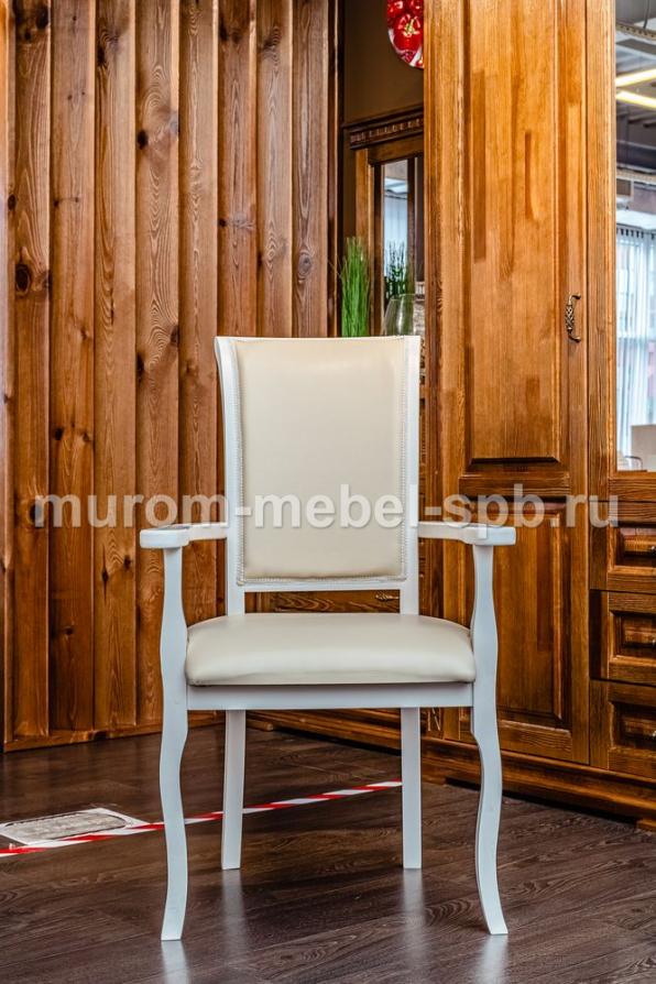 Фото Кресло Легранж (белая эмаль, береза)