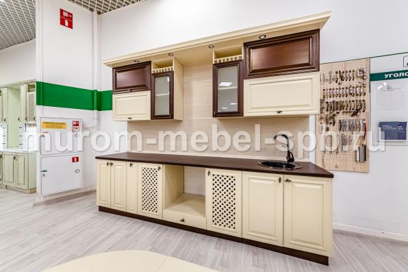 Фото Кухня Валерия (слоновая кость + коричневая эмаль)