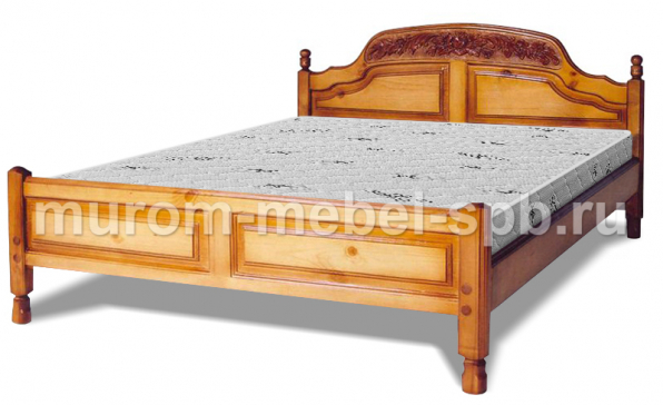 Фото Кровать Наполеон (резьба шапкой)