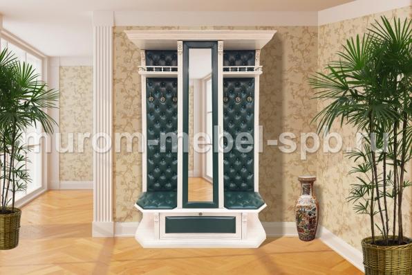 Фото Прихожая с открытой вешалкой и зеркалом 1 из серии