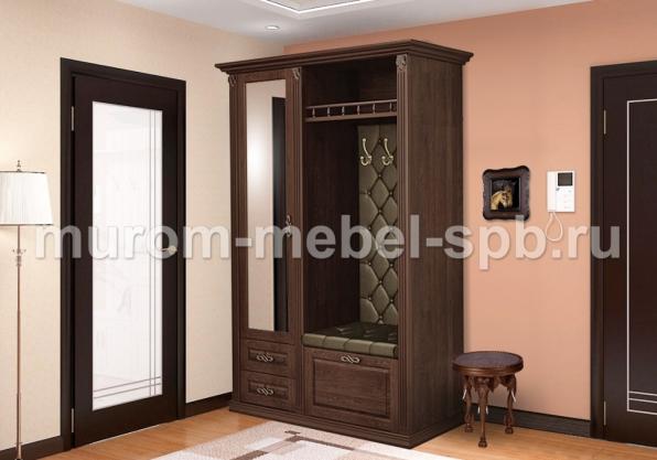 Фото Прихожая с открытой вешалкой и зеркалом 3 из серии