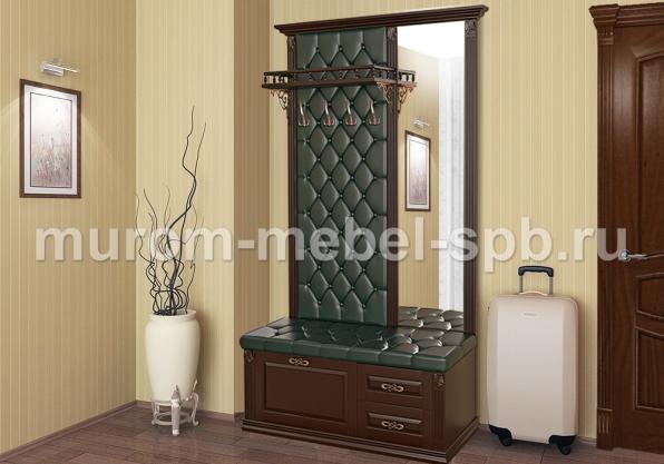 Фото Стеновая панель с зеркалом и тумбой 3 из серии