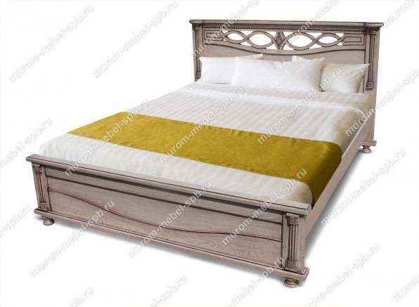 Фото Кровать Мелиса из дуба