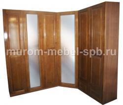 Фото Шкаф угловой с двумя зеркалами
