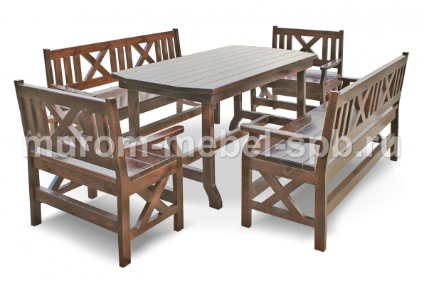 Фото Набор мебели для веранд и террас Дубрава