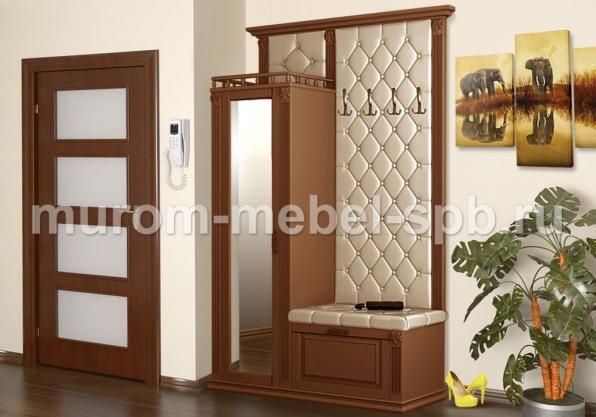 Фото Прихожая с открытой вешалкой и зеркалом 2 из серии