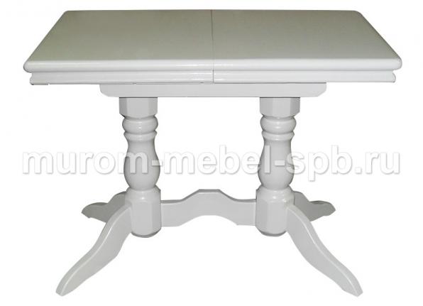 Фото Стол 2 ноги прямоугольный эмаль, с обкладом